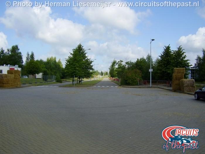 De plek waar de start/finish van Circuit Nivelles-Baulers was in 2014