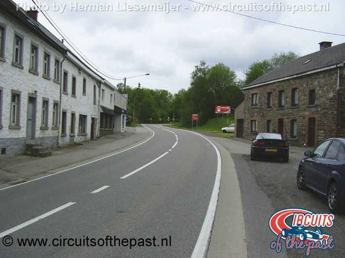 Circuit Spa-Francorchamps - Het gedeelte voor de oorspronkelijke Stavelotbocht