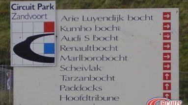 Namen bochten Circuit Zandvoort