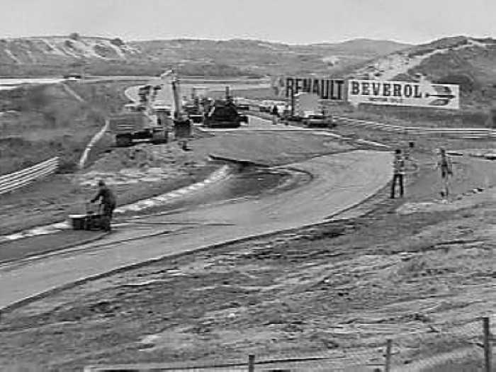 Circuit Zandvoort 1979 - Aanleg tijdelijke chicane