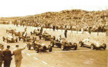 Circuit Zandvoort 1948 - Start van de allereerste Grand Prix