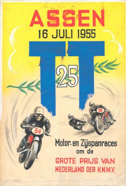 TT Circuit Assen - Dutch TT 1955 poster