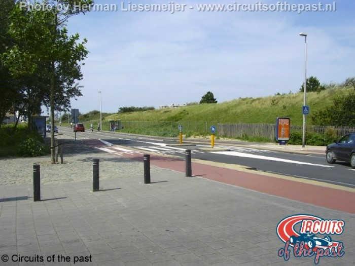 Het stratencircuit van Zandvoort – Kruising Vondellaan/Van Lennepweg