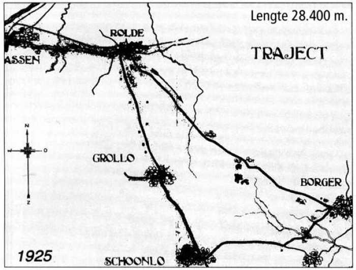 Het stratencircuit uit 1925: Rolde - Borger - Schoonloo