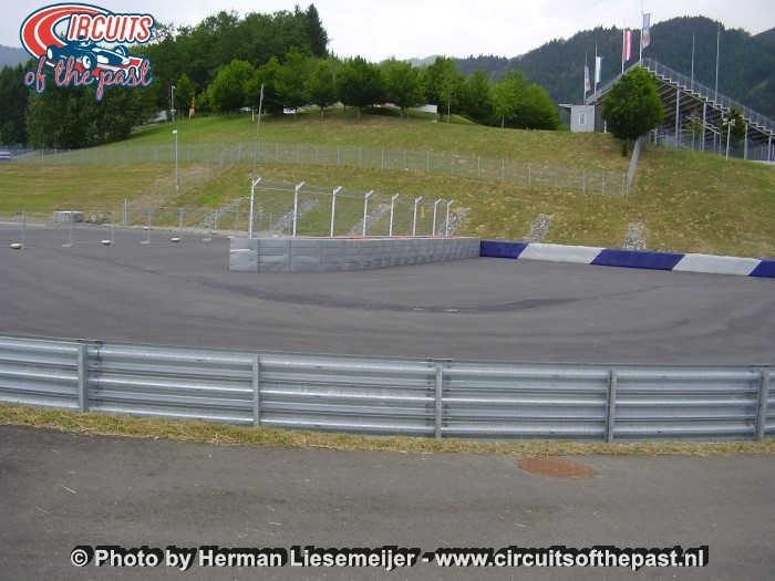 Österreichring (Red Bull Ring) - De nieuwe chicane in de verbinding met de oude Westschleife