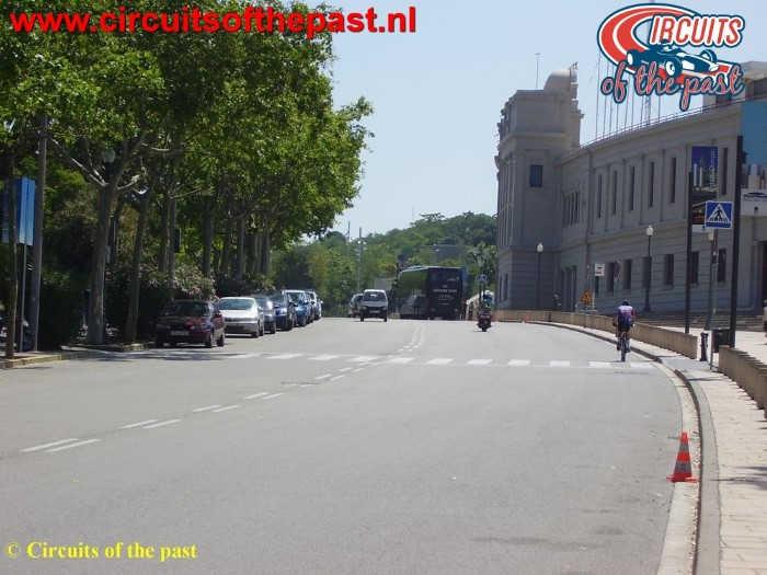 Montjuich Circuit Barcelona - Start/Finish F1