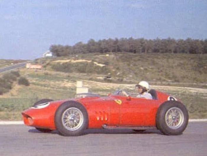 Grand Prix Frankrijk 1960 - Phil Hill in zijn Ferrari
