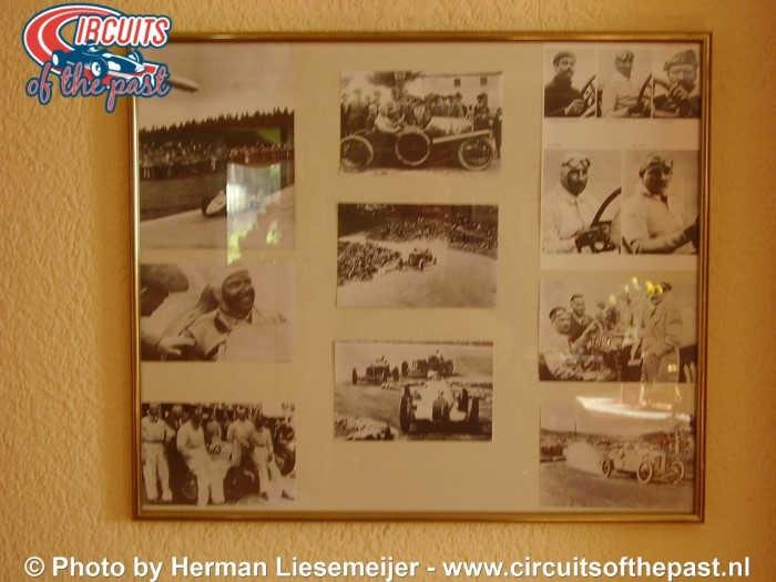 """Deutschlandring - Old pictures in restaurant """"Einkehr zur Rennstrecke"""" Hohnstein"""