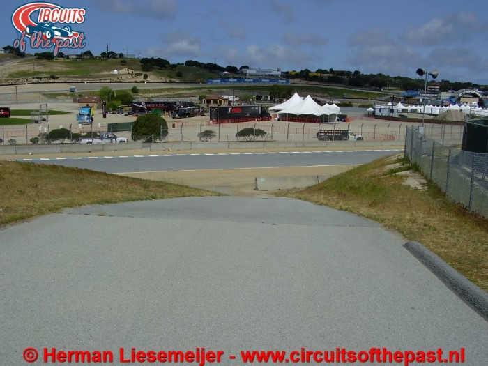 Laguna Seca Raceway - Steil serviceweggetje