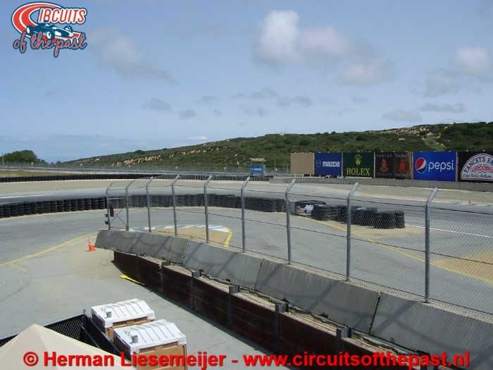 Laguna Seca Raceway - Turn 1 & uitgang pits